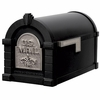 Fleur De Lis Keystone Series Mailbox - Black with Satin Nickel Accent