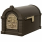 Fleur De Lis Keystone Series Mailbox - Bronze with Polished Brass Accent