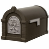 Fleur De Lis Keystone Series Mailbox - Bronze with Satin Nickel Accent