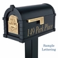Signature Keystone Series Mailbox - Almond with Polished Brass Script