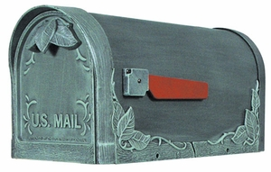 Floral Curbside Mailbox with Post Option