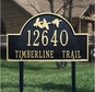 Flying Duck Arch - Standard Lawn Address Sign - Two Line