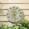 Whitehall Fossil Sumac Thermometer Clock Combo