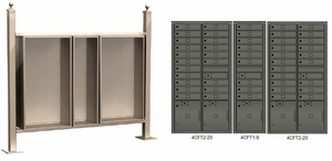 Free standing vario EXPRESS mail station kit with 4C mailboxes (49 tenant doors and 5 parcel lockers)