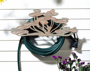Whitehall Frog Hose Holder - Copper Verdi
