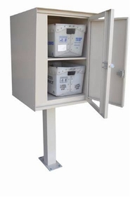 Front Access Double Commercial Collection Box in Aluminum