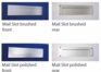 """Front and Rear Stainless Steel Mail Slot (small) 11.8"""" x 3"""" - Satin Brushed"""