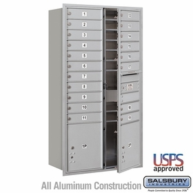 Salsbury 3716D-19AFU 4C Mailboxes 19 Tenant Doors Front Loading