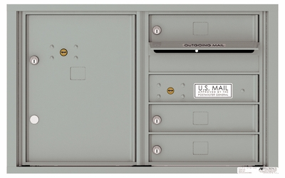Front Loading 4C Commercial Mailbox with 3 Tenant Doors and 1 Parcel Locker