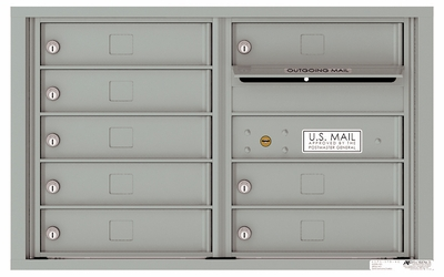 Front Loading 4C Commercial Mailbox with 8 Tenant Doors