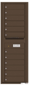 Rear Loading Commercial Mailbox - 12 Extra-Large Tenant Doors - Single Column
