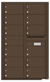 Rear Loading Commercial Mailbox - 13 Tenant Doors - Double Column