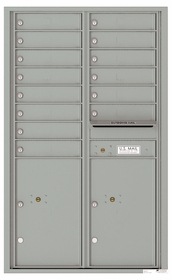 Front Loading Commercial Mailbox - 14 Tenant Doors and 2 Parcel Lockers - Double Column