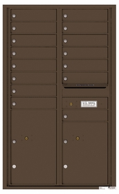 4C Rear Loading Horizontal Mailboxes 15 to 16 Doors