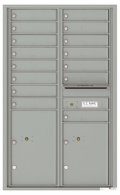 Front Loading Commercial Mailbox - 15 Tenant Doors and 2 Parcel Lockers - Double Column