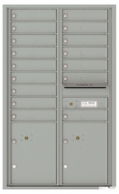 Front Loading Commercial Mailbox - 16 Tenant Doors and 2 Parcel Lockers - Double Column