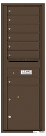 Rear Loading Commercial Mailbox - 7 Tenant Doors and 1 Parcel Locker - Single Column