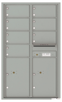 Front Loading Commercial Mailbox - 7 Tenant Doors and 2 Parcel Lockers - Double Column