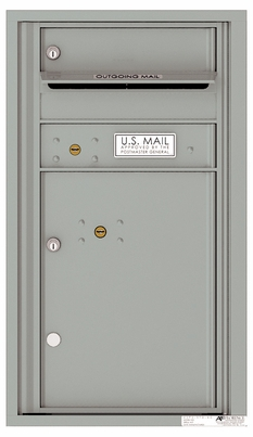 Front Loading Commercial Mailbox with 1 Tenant Compartment and 1 Parcel Locker