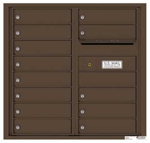 Rear Loading Commercial Mailbox with 13 Tenant Compartments