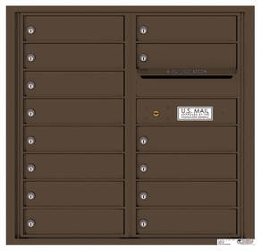 Rear Loading Commercial Mailbox with 14 Tenant Compartments