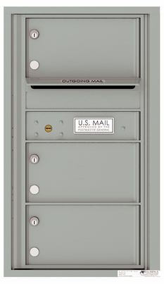 Front Loading Commercial Mailbox with 3 Tenant Compartments