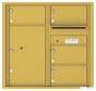 Front Loading Commercial Mailbox with 4 Tenant Compartments and 1 Parcel Locker