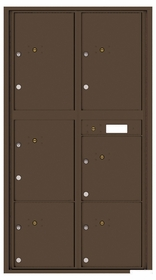 Rear Loading Commercial Mailbox with 6 Parcel Lockers