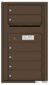 Rear Loading Commercial Mailbox with 6 Tenant Compartments