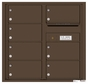 Front Loading Commercial Mailbox with 7 Tenant Compartments