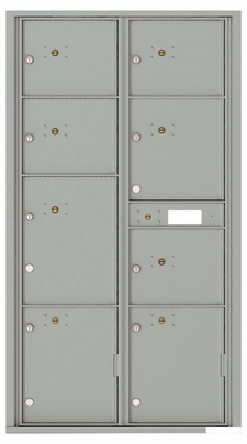 Front Loading Commercial Mailbox with 8 Parcel Lockers