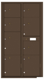 Rear Loading Commercial Mailbox with 8 Parcel Lockers