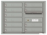 Front Loading Double Column Commercial Mailbox with 10 Tenant Doors