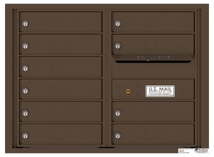 Rear Loading Double Column Commercial Mailbox with 10 Tenant Doors