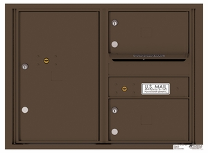 Rear Loading Double Column Commercial Mailbox with 2 Tenant Compartments and 1 Parcel Locker