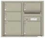 Front Loading Double Column Commercial Mailbox with 5 Tenant Doors