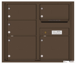 Rear Loading Double Column Commercial Mailbox with 5 Tenant Doors