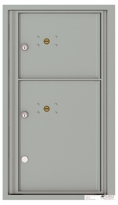 Front Loading Fully Recessed Single Column Commercial Mailbox with 2 Parcel Lockers