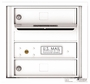 Front Loading Single Column Commercial Mailbox with 2 Tenant Compartments
