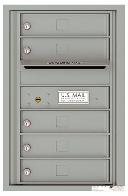 Front Loading Single Column Commercial Mailbox with 5 Tenant Doors