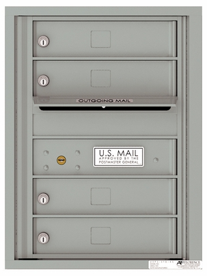 Front Loading Single Column Extra-Large Commercial Mailbox with 4 Tenant Compartments