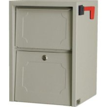 Delivery Vault Junior- Full Service Lockable Curbside Mailbox - Sand
