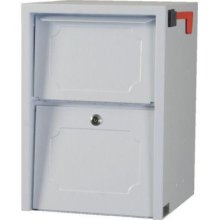 Delivery Vault Junior- Full Service Lockable Curbside Mailbox - White