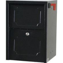 Delivery Vault Junior- Full Service Lockable Curbside Mailbox - Black