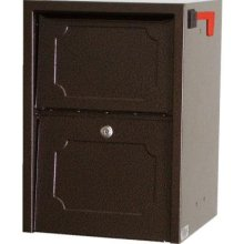 Delivery Vault Junior- Full Service Lockable Curbside Mailbox - Copper Vein