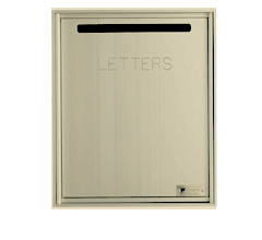 Fully Recessed, Front Loading Mail Collection Drop Box - Gold