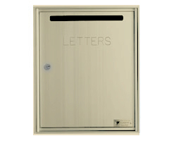 Fully Recessed, Rear Loading Mail Collection Drop Box - Powdercoat Gold
