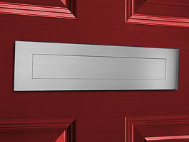 "Satin Brushed Stainless Steel Contemporary Door Mail Slot (large) 15.7"" x 3.9"""
