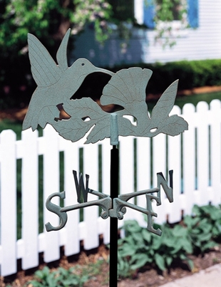 Whitehall Garden Directions HUMMINGBIRD Weathervane in Metallic Finishes