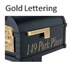 Gold Vinyl Lettering for Mailbox Sides/One Side up to 20 characters